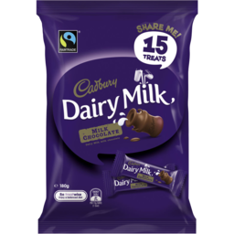 Photo of Cadbury Treat Size Dairy Milk 15 Pack 180g 180g
