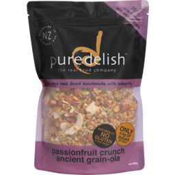 Photo of Pure Delish Grain-Ola Cereal Passionfruit Crunch 400g