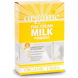 Photo of Organic Times - Milk - Powder - Full Cream - 300g