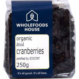 Photo of Wholefoods House Dried Cranberries Org 250g