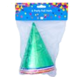 Photo of Korbond Foil Party Hats 8pk