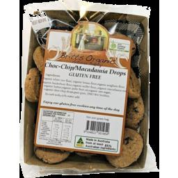 Photo of Britt's Organic Biscuits - Choc Chip/Macadamia Drops (Gluten Free)