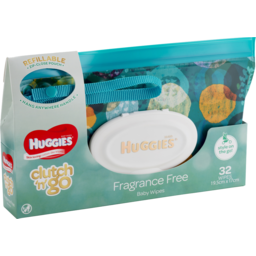 Photo of Huggies Baby Wipes Refillable Clutch 'n' Go 32 Wipes
