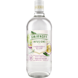 Photo of Smirnoff Infusions Passionfruit & Lime 700ml
