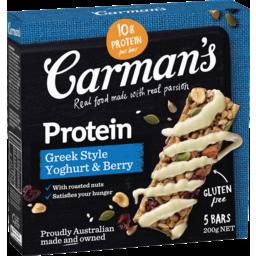 Photo of Carman's Greek Style Yoghurt & Berry Protein Bars 5.0x40g