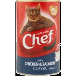Photo of Chef Cat Food Chicken & Salmon 690g