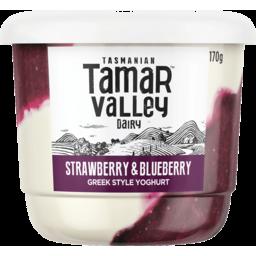 Photo of Tamar Valley Greek Style Strawberry & Blueberry Yoghurt 170g