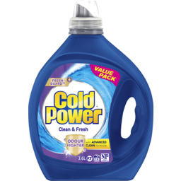 Photo of Cold Power Advanced Clean, Clean & Fresh, Washing Liquid Laundry Detergent, 3.6 Litres