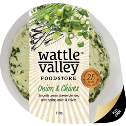 Photo of Wattle Valley Fruit Cheese Onion & Chive 110gm