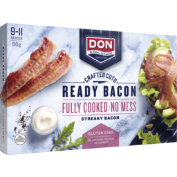 Photo of Don® Crafted Cuts Ready Bacon Streaky 60g
