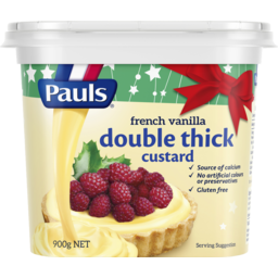 Photo of Pauls Double Thick Custard French Vanilla  900gm