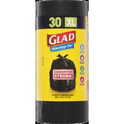 Photo of Glad Wavetop Tie Garbage Bag Xl 30 Pack