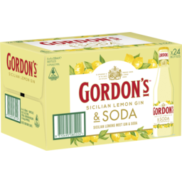 Photo of Gordon's Sicilian Lemon Gin Bottles