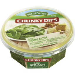 Photo of Wattle Valley Chunky Dips Baby Spinach With Cashews & Parmesan 150gm