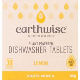 Photo of Earthwise Dishwasher Tablets Lemon 30