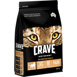 Photo of Crave Dry Cat Food Chicken 500g Bag