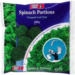 Photo of Logan Farm Spinach Portions Chopped Leaf Style 500gm