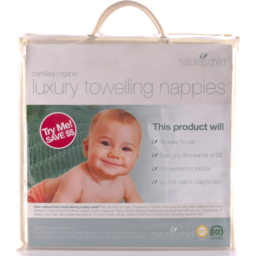Photo of Nature's Child Nappies - Towelling 6 Pack