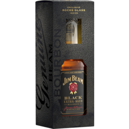 Photo of Jim Beam Black 700ml Glass Gift Pack