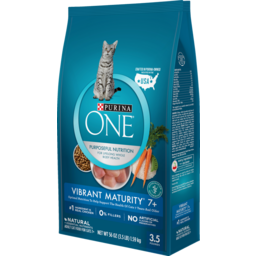 Photo of One Cat Food Dry Smartblend Vibrant Maturity 7+ Adult 1.59kg