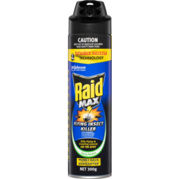Photo of Raid Max Spring Meadow Flying Insect Killer Double Nozzel Spray Aerosol 300g