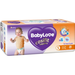 Photo of Babylove Cosifit Nappies 12-17kg 28pk