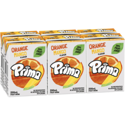 Photo of Prima Orange Mango Fruit Drink 6x200ml