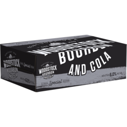 Photo of Woodstock Bourbon & Cola 6.0% 375ml 24 Pack