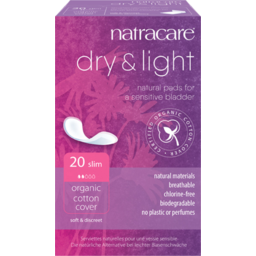 Photo of Natracare Pads - Incontinence (Dry + Light) 20 Pack