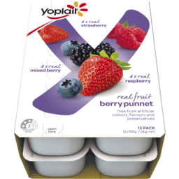 Photo of Yoplait Berry Punnet Yoghurt Multipack 12 Pack Play To Win Promo