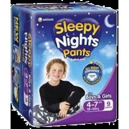 Photo of Babylove Sleepy Nights 4-7yrs 9pk