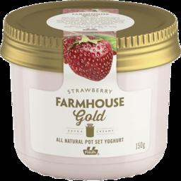 Photo of Pauls Farmhouse Gold Pot Set Yoghurt Strawberry 150g