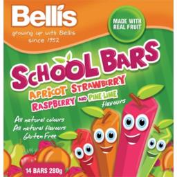 Photo of Bellis Bars Apricot Strawberry Raspberry 14pk 280g
