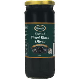 Photo of Delmaine Olives Pitted Black 450g