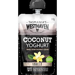 Photo of Tasmanian Westhaven Coconut Yoghurt Vanilla Pouch 110gm