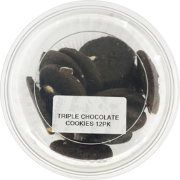 Photo of Triple Chocolate Cookies 8 Pack 190g