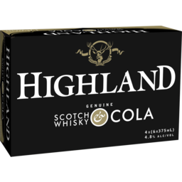 Photo of Highland Scotch & Cola 4.8% 375ml 3x10 Pack