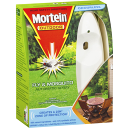 Photo of Mortein Naturgard Automatic Outdoor Insect Control System Prime Odourless Fly & Mosquito Killer 152g