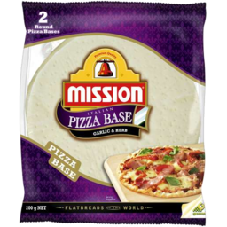 Photo of Mission Round Pizza Base Garlic 2pk 200gm