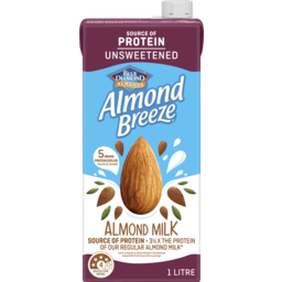 Photo of Blue Diamond Long Life Milk Almond Breeze Unsweetened Protein Almond Milk 1l