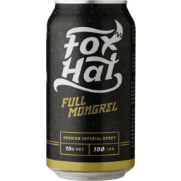 Photo of Fox Hat Full Mongrel Stout Cans