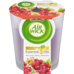 Photo of Air Wick Essential Oils Candle Mountain Berry Blossom