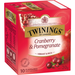 Photo of Twinings Infusions Cranberry & Pomegranate 10 Pack 20g