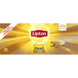 Photo of Lipton Instant Latte Sachets Chai Tea 20 Pack 50g