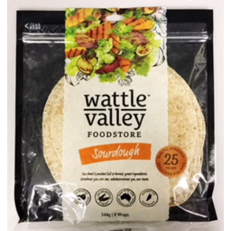 Photo of Wattle Valley Soft Wraps Sour Dough 344gm