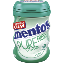 Photo of Mentos Pure Fresh Spearmint Sugar Free Chewing Gum Bottle 68g