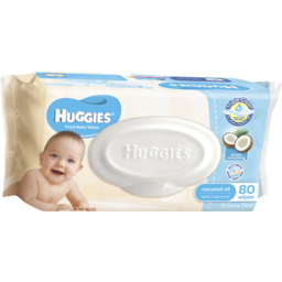Photo of Huggies Coconut Baby Wipes, 80 Pack