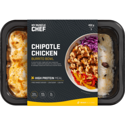 Photo of My Muscle Chef Chipotle Chicken Burrito Bowl 450gm