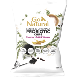 Photo of Go Natural Probiotic Chips Rosemary Salt & Vinegar 100g