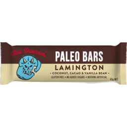 Photo of Blue Dinosaur Paleo Bars Lamington 45g